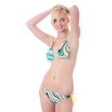 Blond warm woman in bikini Royalty Free Stock Photo