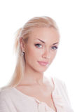 Blond on white Royalty Free Stock Image