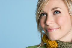 Blond Winter Girl stock photography