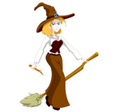 Blond witch Royalty Free Stock Photo