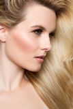 Blond Woman. Beautiful woman with blond hair Royalty Free Stock Photo