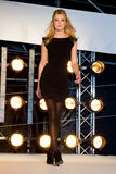 Blond woman. BARCELONA - JANUARY 27: The Brandery, international trade show of urban and contemporary fashion. In the picture, fashion parade of Phard brand Stock Photography