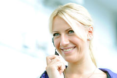 Blond woman Stock Photography