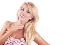 Blond woman. Portrait of wonderful blond women, studio shot Stock Photo