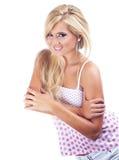 Blond woman. Portrait of wonderful blond women, studio shot Royalty Free Stock Image