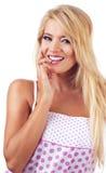 Blond woman. Portrait of wonderful blond women, studio shot Stock Photography