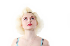 Blond woman. The attractive blonde in similar to Monroe Royalty Free Stock Photos