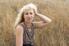 blond woman Στοκ Φωτογραφία