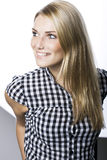 Blond woman with a beautiful smile Stock Photos
