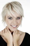 Blond woman with a beautiful smile Royalty Free Stock Photos