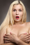 Blond woman beauty portrait Royalty Free Stock Images