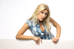 Blond woman in blouse Royalty Free Stock Photos