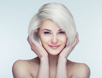 Blond woman with brown eyes Stock Image