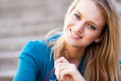 Blond woman closeup Royalty Free Stock Photos