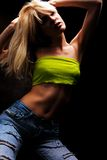 Blond woman dancing Stock Image
