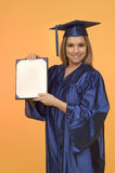 Blond woman with diploma Royalty Free Stock Image