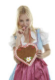 Blond Woman in Dirndl Royalty Free Stock Photos