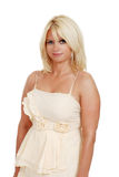 Blond woman in evening dress Royalty Free Stock Image