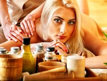Woman getting  massage . Royalty Free Stock Photography