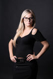 Blond Woman with glasses Stock Images