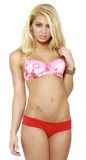 Blond woman in lingerie Royalty Free Stock Photo