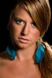 Blond woman portrait Stock Photo