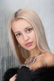 Blond woman portrait Stock Photos