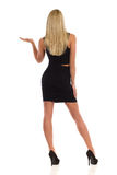 Blond Woman Rear View Royalty Free Stock Image