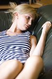 Blond woman relaxing Stock Image