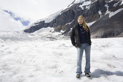 Blond woman in the rockies Royalty Free Stock Photos