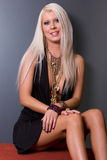 Blond woman in dress Royalty Free Stock Photography