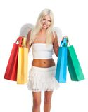 Blond woman shopping Stock Photography