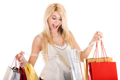 Blond woman shopping Royalty Free Stock Image