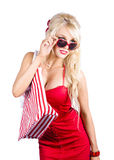 Blond woman shopping Royalty Free Stock Photography