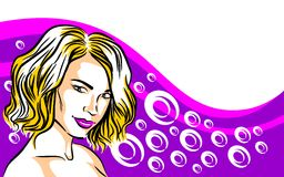 Blond woman with short hair Stock Photography
