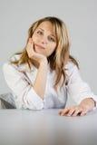 Blond Woman Skeptical Stock Photos