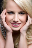 Blond Woman Smiling Royalty Free Stock Photos