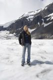 Blond woman in the snow Royalty Free Stock Photo