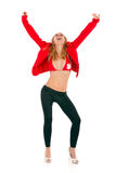Blond woman success Royalty Free Stock Photos