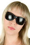 Blond woman in sunglasses Royalty Free Stock Photos