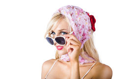 Blond woman in sunglasses Royalty Free Stock Photography