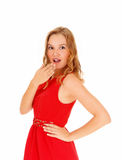 Blond woman surprised. Stock Photography