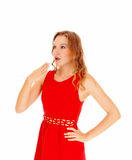 Blond woman surprised. Royalty Free Stock Photo