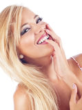 Blond women. Portrait of wonderful blond woman, studio shot Royalty Free Stock Photos