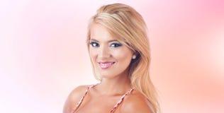 Blond women. Portrait of a wonderful blond woman, studio shot Royalty Free Stock Images