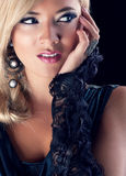 Blond women. Wonderful blond woman in nature Royalty Free Stock Photography