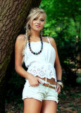 Blond women. Wonderful blond woman in nature Royalty Free Stock Image