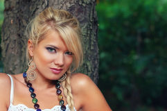 Blond women. Wonderful blond woman in nature Stock Images