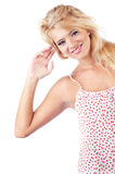 Blond women. Portrait of wonderful blond women, studio shot Royalty Free Stock Images