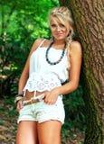 Blond women. Wonderful blond woman in nature Stock Photo